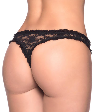 Keyhole Thong in Black
