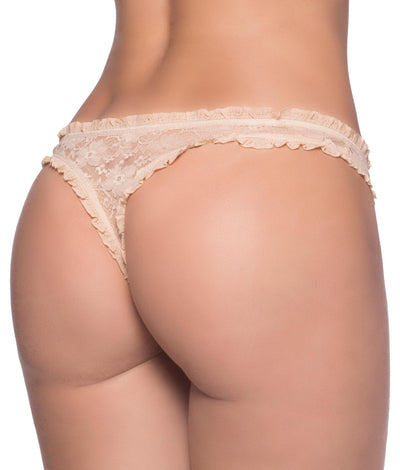 Keyhole Thong in Nude