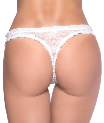 Keyhole Thong in White