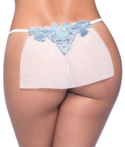Veiled Sheer Bridal G-String in White