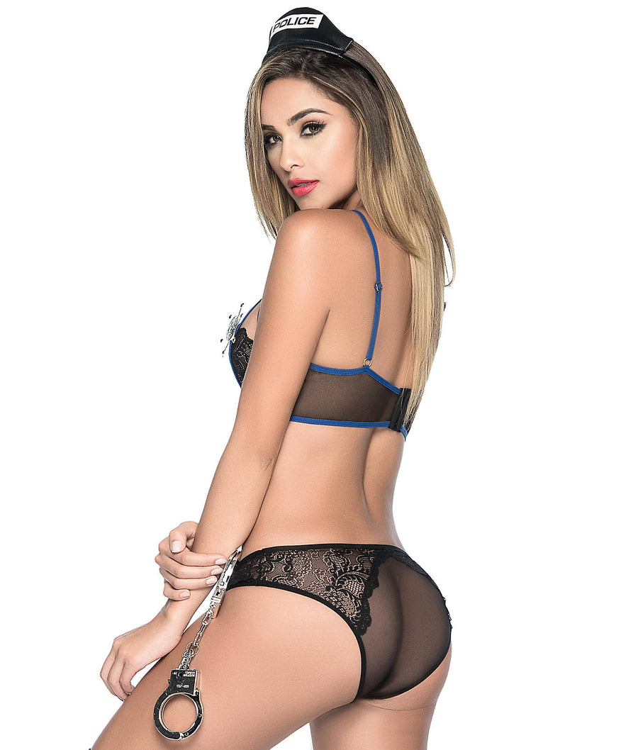 Lace & Mesh Dirty Cop Lingerie Costume