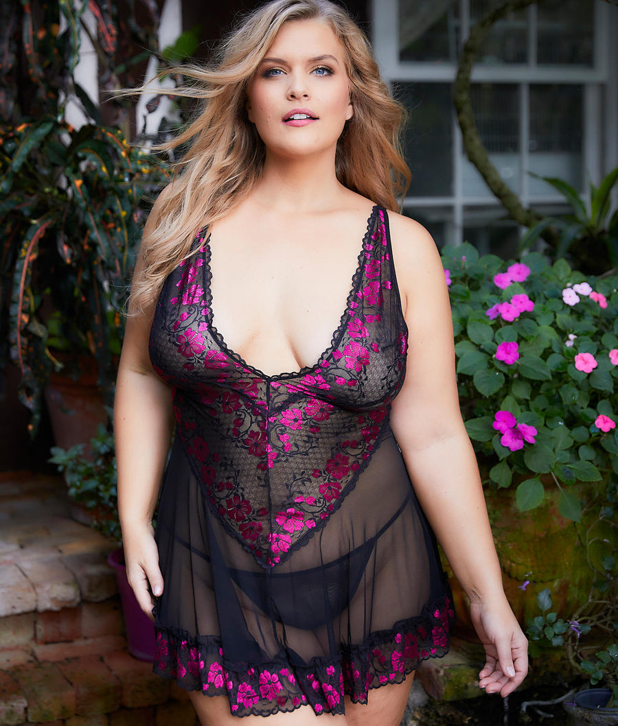 Plus Size Real Lingerie Lana Babydoll Set