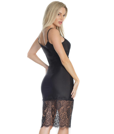 Twilight Eyelash Lace Chemise in Black