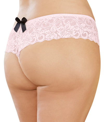 Plus Size Open For Business Boyshort in Vintage Pink