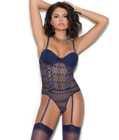 Emery Crochet Teddy in Midnight Blue
