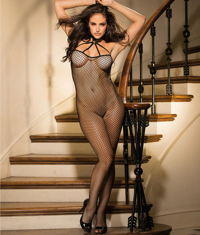 Choker Bodystocking in Black