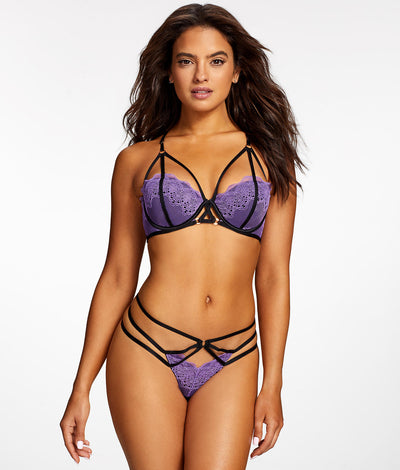 Midnight Kiss G-String in Purple
