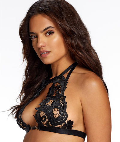 Orlando Heavy Lace Bra in Black