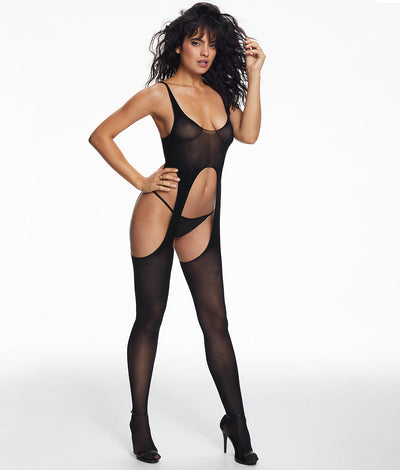 Cayenne Exposed Bodystocking in Black
