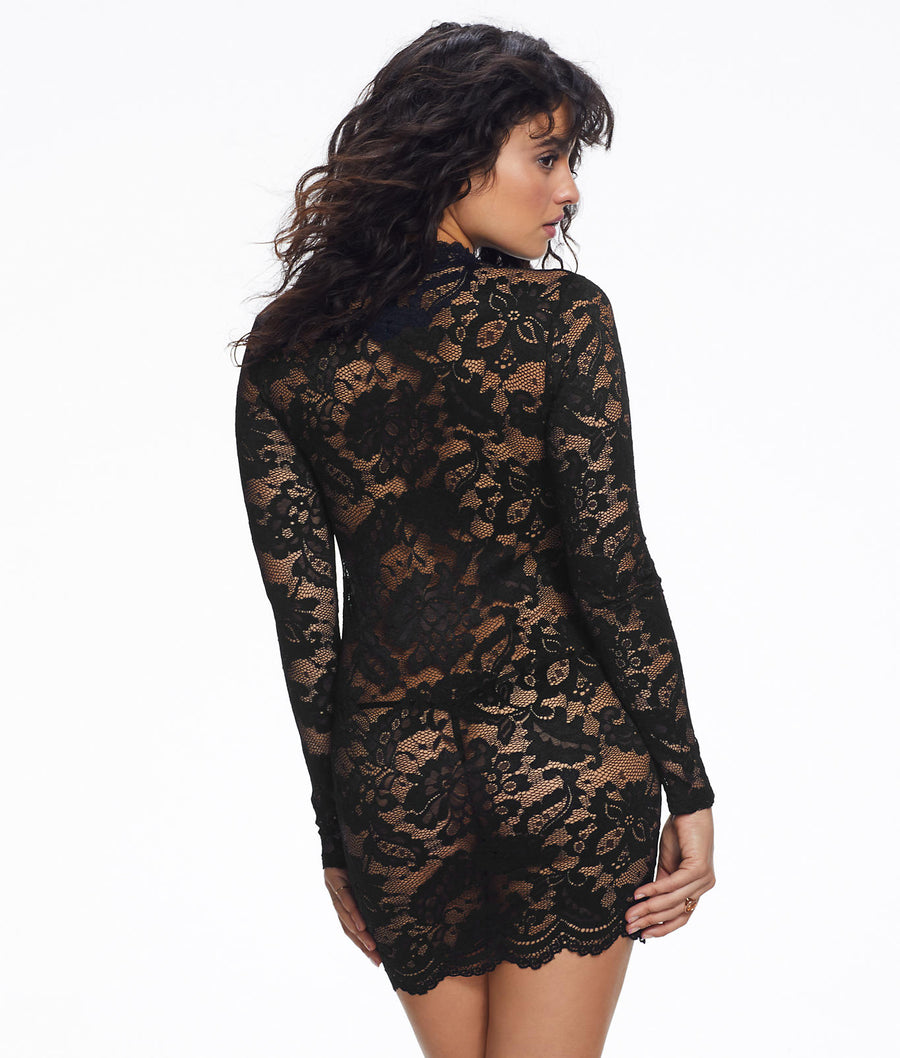 Black||Blair Lace Dress in Black