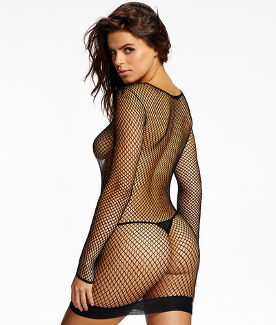 Esher Fishnet Dress in Black