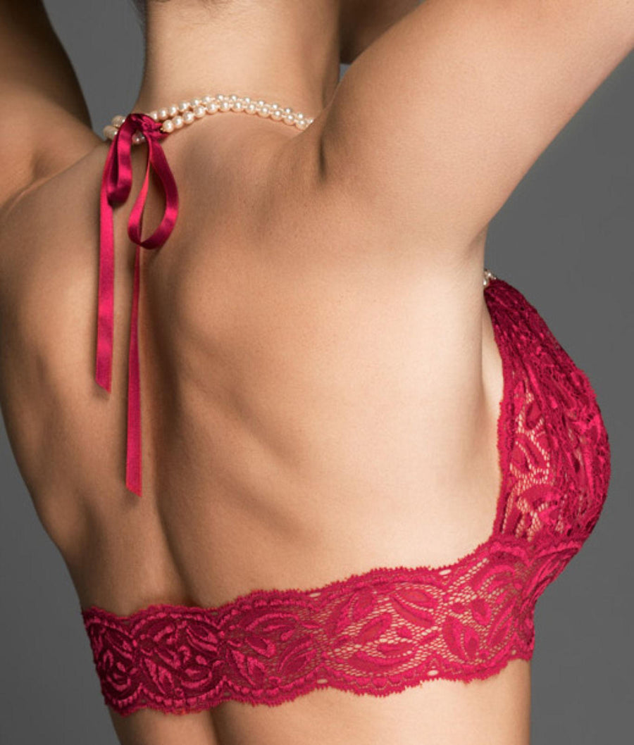 Red||Paris Collection Wire-Free Bra in Red