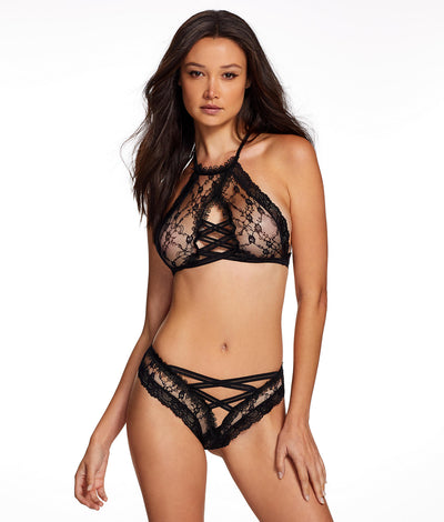 Laurie Lace Bra Set in Black