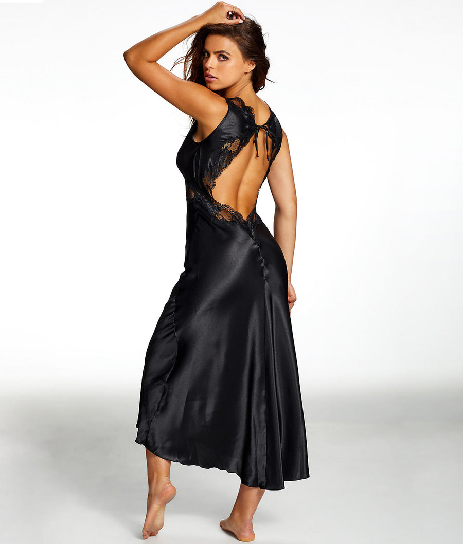 Nicole Satin And Lace Night Gown