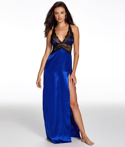 Rosalina Rose Night Gown Set in Blue