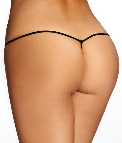 Jessica Lace Mini G-String in Black