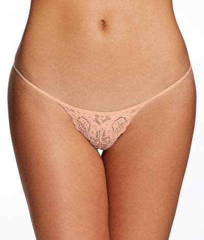 Jessica Lace Mini G-String in Nude