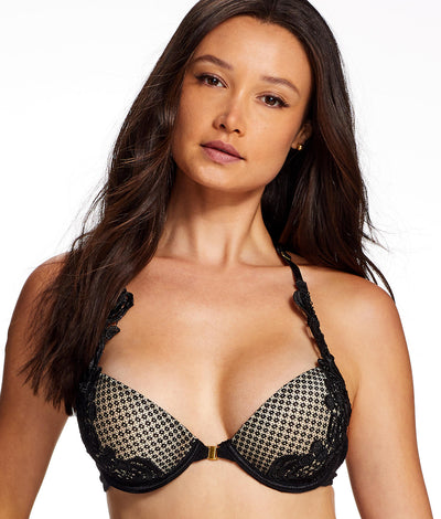 Alexa Zoe Push-Up Bra in Black