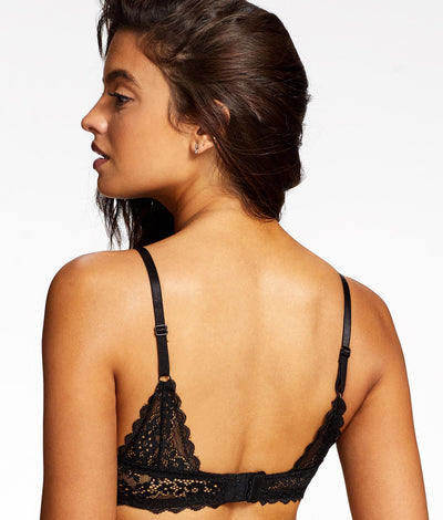 Lydia Rose Balconette Bra in Black