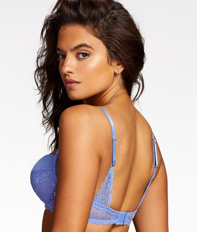 Lydia Rose Balconette Bra in Periwinkle Purple