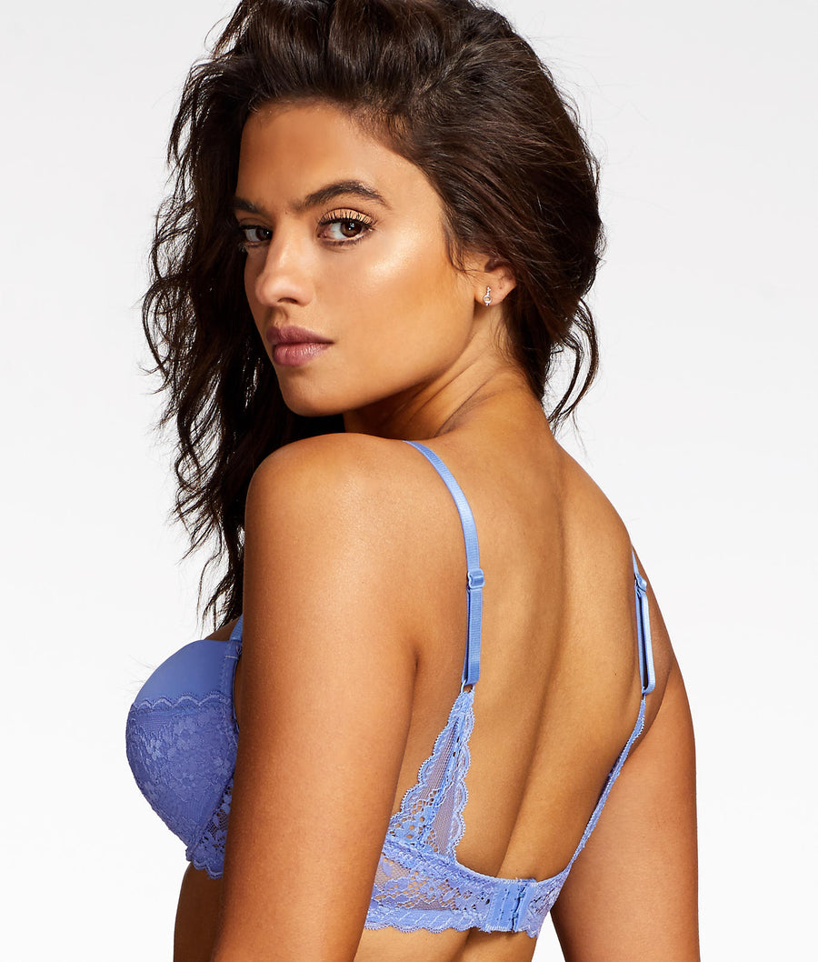 Periwinkle Purple||Lydia Rose Balconette Bra in Periwinkle Purple