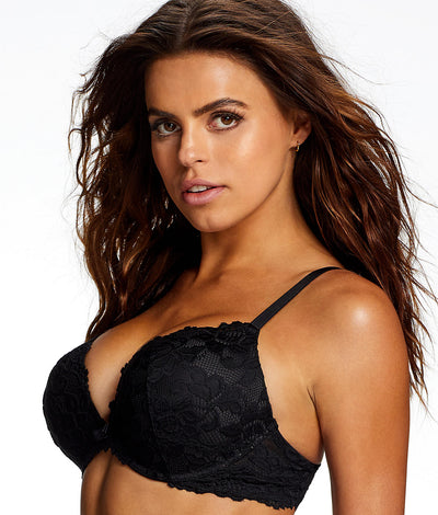 Jessica Lace Push-Up Bra in Black
