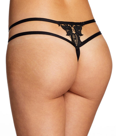Alexa Zoe Lace Thong in Black
