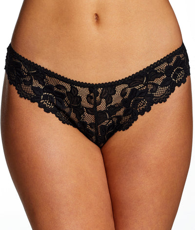 Jessica Lace Tanga in Black