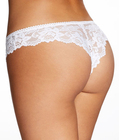 Jessica Lace Tanga in White