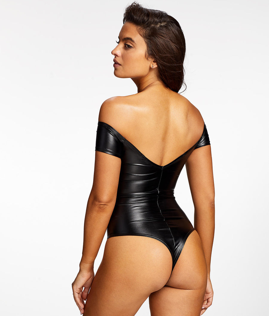 Regan Faux Leather Bodysuit