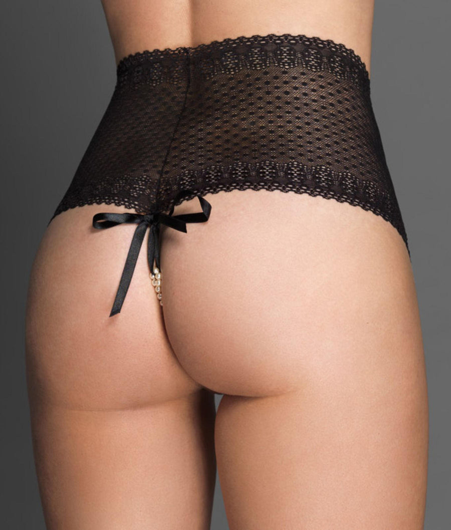 Black||Lace G-Thong in Black