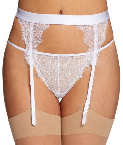 Pandora Lace Garter Belt in White