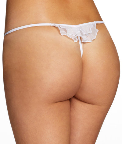 Pandora Lace G-String in White