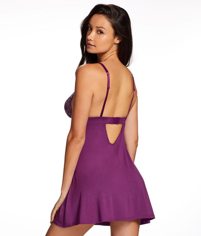 Demure Knit Chemise in Purple