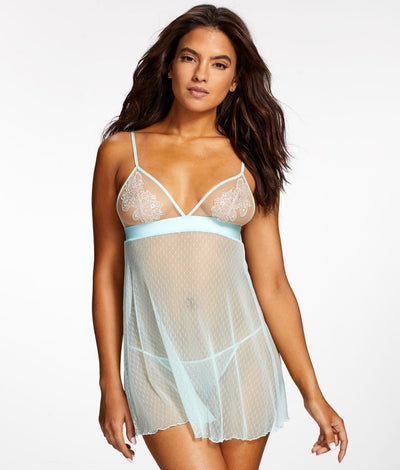 Kirara Wireless Babydoll Set in Bridal Blue