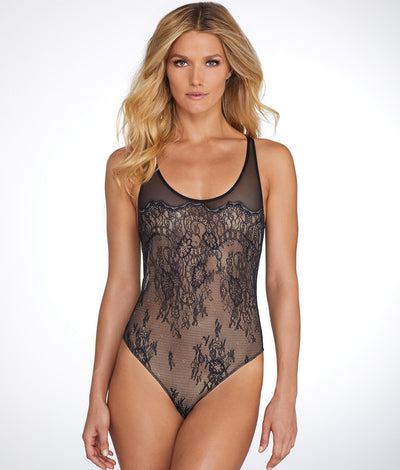 Penelope Wireless Bodysuit in Black