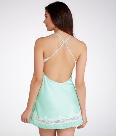 Muse Satin Wireless Chemise in Bridal Blue