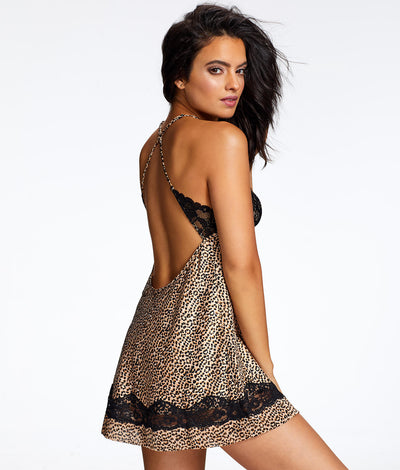 Muse Satin Wireless Chemise in Cheetah