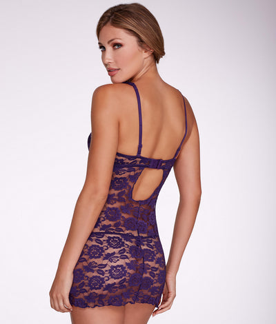Rachel Convertible Push-Up Babydoll Set in African Violet
