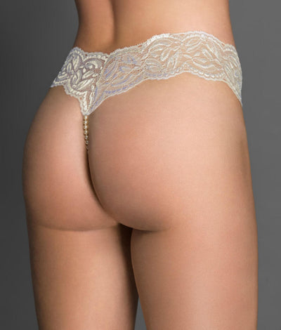 Paris Collection Classic Pearl Thong in Ivory