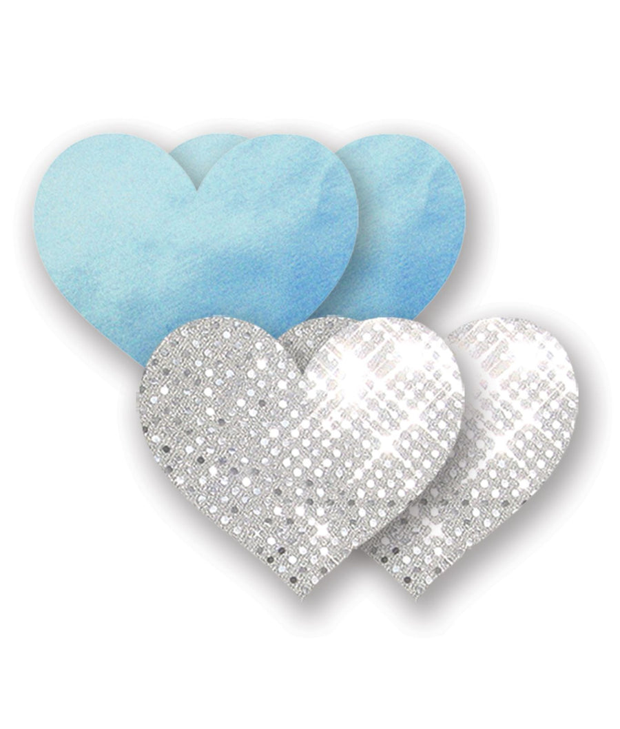 Blue / White||Nippies Something Blue Heart Pasties in Blue / White