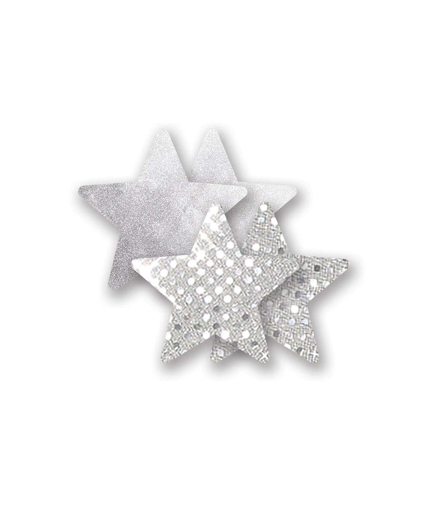 Silver||Nippies Studio Silver Star Pasties in Silver