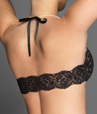 Paris French Lace Wire-Free Bra in Black