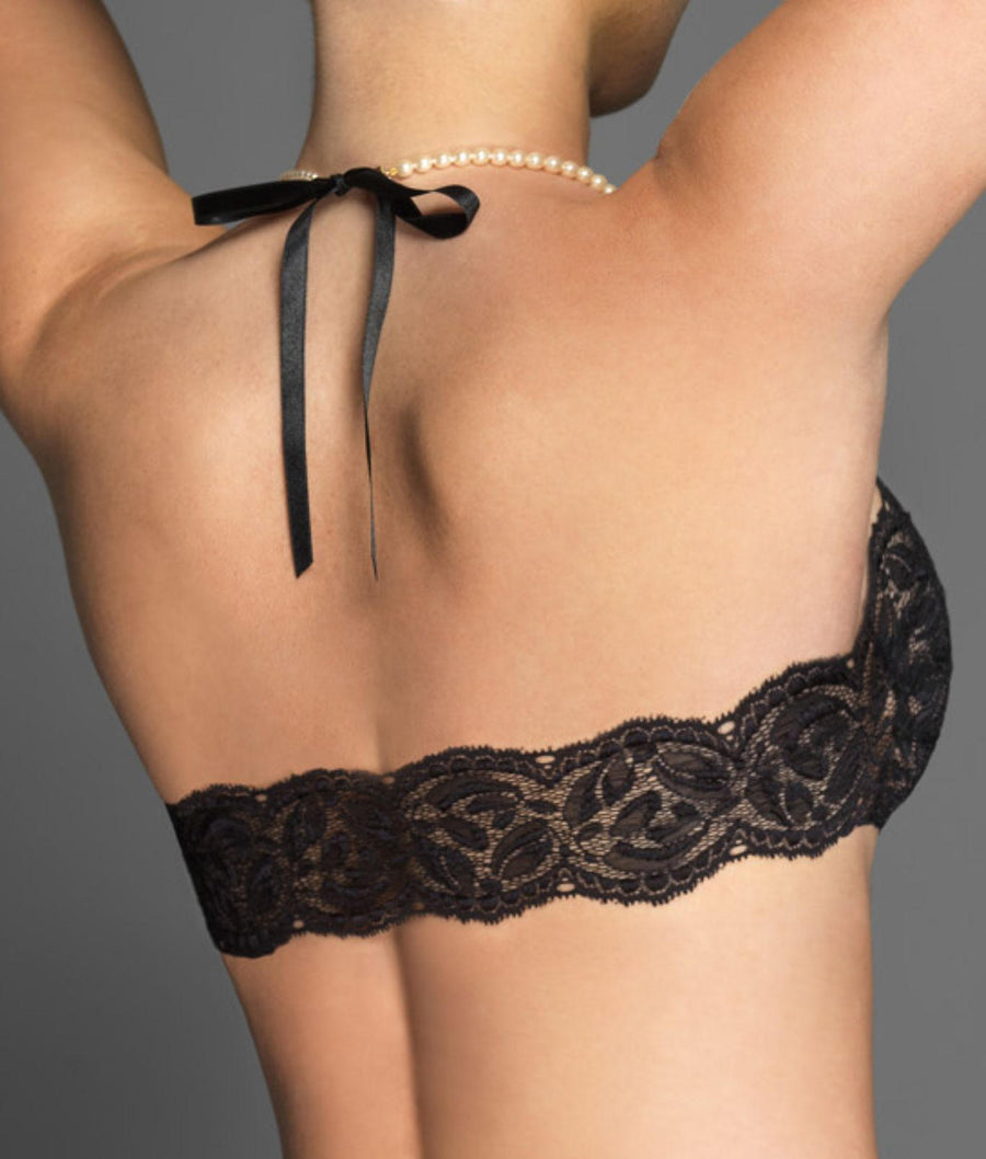 Black||Paris French Lace Wire-Free Bra in Black