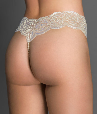 Paris Collection Double Strand Pearl Thong in Ivory