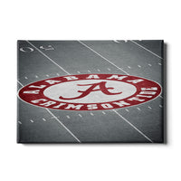 Alabama Crimson Tide - Bryant-Denny Football Stadium 50 Yard Line Canvas Wall Decor