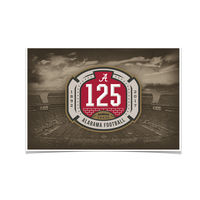 Alabama Crimson Tide - 125th Bama - American football Large Photo Print Wall Art