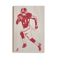 Alabama Crimson Tide Bama® Illustration wood art