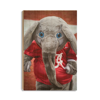Alabama Crimson Tide Big Al™ wood wall art