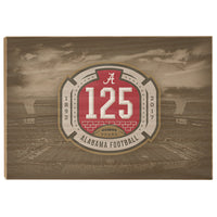Alabama Crimson Tide - 125th Bama - American football Wood Wall Art